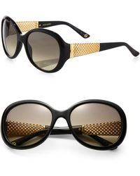 Gucci Oversized 56Mm Round Sunglasses - Lyst