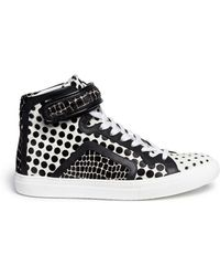Pierre Hardy Mix Print Calf Hair Sneakers - Lyst