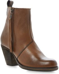 Dune Platter Leather Ankle Boots - Lyst