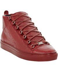Balenciaga Arena Hightop Sneakers - Lyst