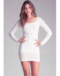 Bebe Victoria Lace Dress - Lyst