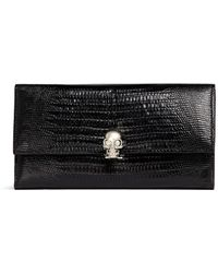 Alexander McQueen | Skull Leather Continental Wallet | Lyst