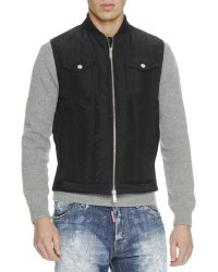 DSquared2 Quilted Down Vest - Lyst