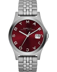 Marc By Marc Jacobs 36mm The Slim Stainless Watch with Bracelet Red Dial - Lyst