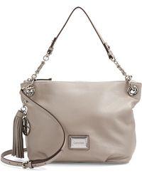 Calvin Klein Pebbled Leather Hobo Bag - Lyst