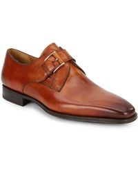 Magnanni Monk-strap Leather Loafters - Lyst