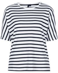 Topshop Seamless Stripe Tee By Boutique - Lyst