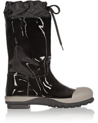 Miu Miu Patentleather and Shell Boots - Lyst
