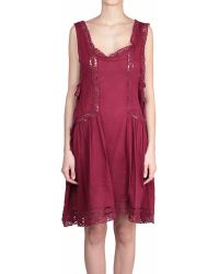 Etoile Isabel Marant Cotton And Lace Dixie Dress - Lyst