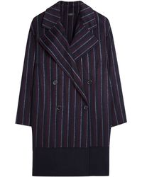 Joseph Stripe Tailored Coat - Lyst