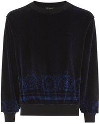 Versace Printed Velour Sweatshirt - Lyst