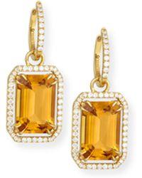 Goshwara - Gossip 18k Gold Citrine Drop Earrings - Lyst