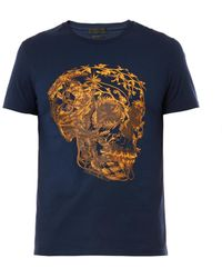 Alexander McQueen Floral Skullprint Tshirt - Lyst