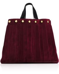 Tamara Mellon Sugar Daddy Suede With Studs Tote purple - Lyst