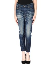 Diesel Denim Trousers blue - Lyst