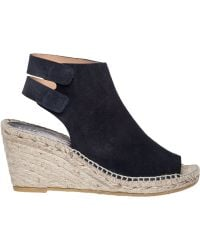 Bettye Muller Download Navy Suede Rope Wedge blue - Lyst
