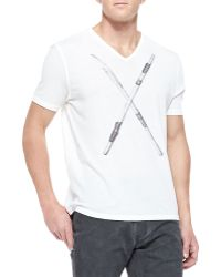 John Varvatos Short-sleeve Tee with Drumsticks - Lyst