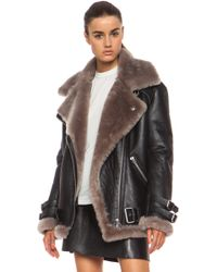 Acne Studios Velocite Leather Jacket black - Lyst