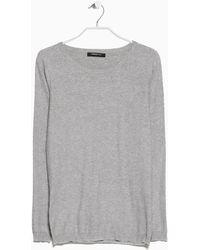 Mango Polka-Dot Cotton-Blend Sweater - Lyst