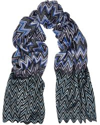 Missoni Scalloped Crochetknit Scarf - Lyst