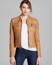 Kors By Michael Kors Jacket Moto Leather - Lyst