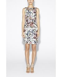 Nicole Miller Printed Venice Lace Dress - Lyst
