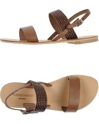 Pierre Darre' Sandals khaki - Lyst
