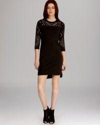 Karen Millen Dress Jumbo Mesh Knit - Lyst