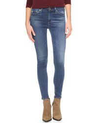 AG Adriano Goldschmied Midi Ankle Jeans - 10 Years Haven - Lyst