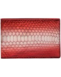 Raf Simons Mens Printed Leather Bi-fold Wallet - Lyst