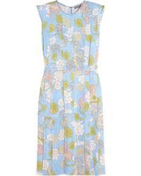 Bottega Veneta Floral-print Georgette Dress - Lyst