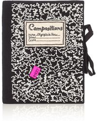 Olympia Le-Tan Black Notebook Beaded Clutch multicolor - Lyst