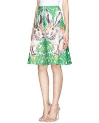 Chictopia - Painted Bunny Appliqué Flare Skirt - Lyst