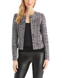 Hugo Afine | Cotton Blend Tweed Jacket - Lyst