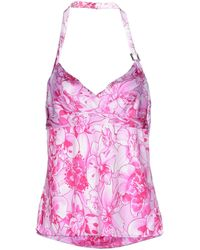 Versace Top pink - Lyst