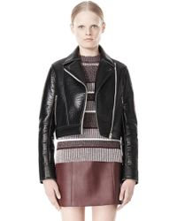 Alexander Wang Bonded Leather Motorcycle Jacket - Lyst