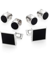 Burberry Brass Enamel Stud Set - Lyst