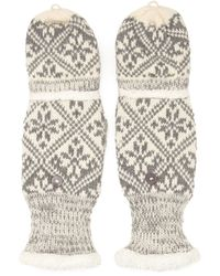 Forever 21 - Faux Fur Convertible Mittens - Lyst