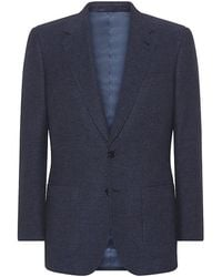 Gieves & Hawkes Wool-blend Micro Check Jacket - Lyst