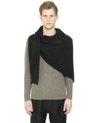 Christophe Lemaire - Wool & Yak Knit Asymmetrical Scarf - Lyst