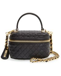 Moschino Quilted Leather Crossbody Bag - Lyst