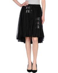 Y-3 Knee Length Skirt black - Lyst