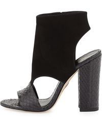 B Brian Atwood | Biella Suede And Snake Sandal | Lyst