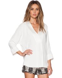 Rachel Zoe Lane V Neck Top - Lyst