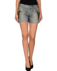 Miss Sixty Denim Shorts - Lyst