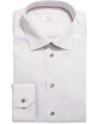 Eton Contemporary-fit Grid Check Dress Shirt - Lyst