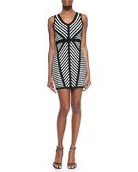Milly Directional Stripe Knit Sheath Dress - Lyst