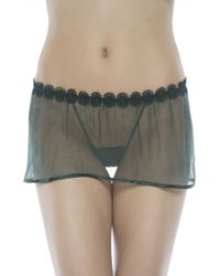 La Perla Black Label Babydoll with Thong green - Lyst