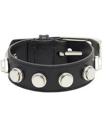 Saint Laurent Studded Leather Bracelet - Lyst