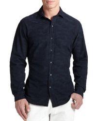 Ralph Lauren Black Label Sloan Camo Jacquard Shirt - Lyst